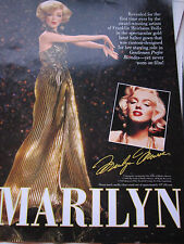 Franklin Heirloom MARILYN MONROE Doll Ad Advertisement Only GLITTERING GOLDEN