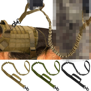 Tactical Dog Leash Nylon Pets Military Lead Belt Leashes For Medium Large Dogs