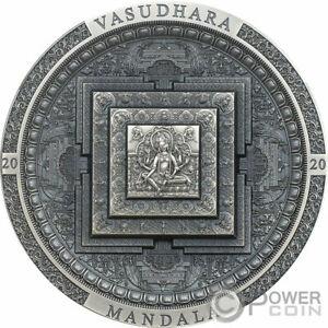 VASUDHARA MANDALA Archeology 3 Oz Silver Coin 2000 Togrog Mongolia 2020