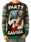 Ugly Christmas Party Sweater Unisex Jesus Party Savior Long Sleeve