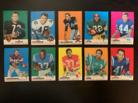 """1969 Topps Football vintage lot of 10 """"pack fresh"""" cards - NM+"""