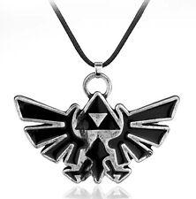 """Legend Of Zelda Triforce Necklace Pendant Charm Black 2"""" US Seller"""