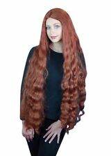 Ariel Mermaid Wig Long Auburn Fancy Dress Costume Fiona Shrek Disney Princess
