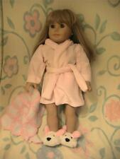 Cute Robe, Slippers and Small Blanket for American Girl Dolls