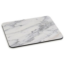 Grey and White Veined Marble Effect Pattern Stone PC Computer Mouse Mat Pad