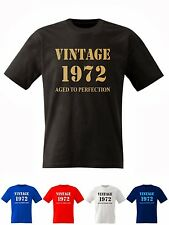 1972 T Shirt Birthday Present Vintage Born Age Mens 17 Sizes available S - 8XL