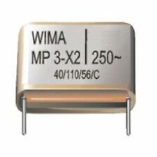 Metallised Paper RFI-Capacitor 20% Class X2 Wima MP3-X2 Series 0.1uF 250 VAC