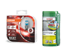 OSRAM HB4 NightBreaker Laser +150% +Sonax Reinigungstücher +Microfasertuch PLUS