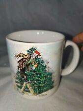 Emmitt Kelly Jr. Christmas Mug 1995 Flambro All Wrapped Up In Christmas