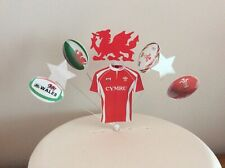Welsh Rugby Birthday cake topper Shirt, dragon balls, stars, Wales (Unofficial)