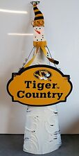 Mizzou Tigers Metal Painted Christmas Decoration Snowman Black Gold Missouri MU
