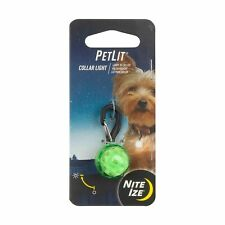 Nite Ize PetLit Collar Light Lime Green Jewel Battery-Powered LED For Dogs Cats