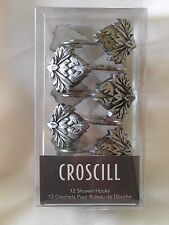 Croscill CASTELLA 12 Shower Curtain Hooks