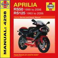 Aprilia RS50 RS125 Haynes Workshop Manual 4298 NEW