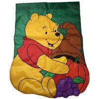 VINTAGE Disney Winnie the Pooh Fall Autumn Pumpkin Decorative House Garden Flag