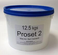 12.5kg PROSET 2 FIRE CEMENT -FIRE BRICK REFRACTORY KILN STOVE PIZZA OVEN (65566)