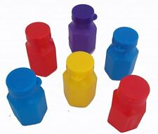 12 MINI BUBBLES - Party lootbag fillers, favours in assorted colours
