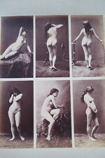 CALAVAS ETUDE DE NUS  TIRAGE ALBUMINE ALBUMEN VINTAGE PRINT 1880 PEINTURE ref13
