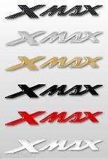 2 ADHESIVOS/PEGATINAS 3D ESCRITO XMAX compatible para SCOOTER YAMAHA X MAX