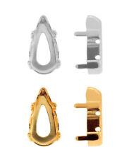 Genuine SWAROVSKI Fancy Stones Settings Fits to 4322 Teardrop Crystals