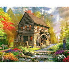 Full Drill 5D DIY Diamond Painting Riverside Cottage Art Embroidery D cor