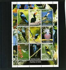 GUINEA 1998 BIRDS SHEET OF 9 STAMPS MNH