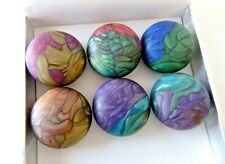 Lot of 6 Colorful Heathergems Button Covers Made from Real Scottish Heather