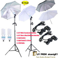 4x 33'' Photo Studio Lighting Umbrellas Cam Video Photography Light Lamp Kit E1