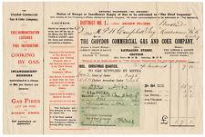 (I.B) Edward VII Revenue : Receipt Note (Croydon Commercial Gas & Coke)
