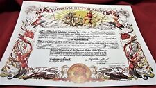 "Shellback ""Imperivm Neptvni Regis"" 11X14 replacement certificate US Navy"