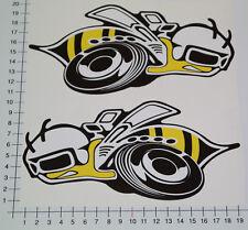 XXL Super Bee 2 PEZZI Adesivi Sticker DODGE Hemi v8 jdm decal srt8 OEM Big 4