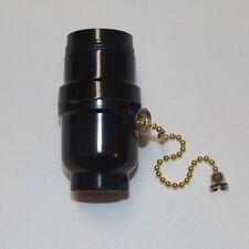 BAKELITE PULL CHAIN LAMP SOCKET WITH UNO THREADS LAMP PART NEW 30541J