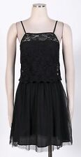 BCBGENERATION Black Sz 8 Women's Cocktail Lace Tea Dress $158 New