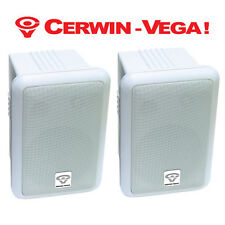 Pair Cerwin Vega SDS-525W-T Outdoor Patio 5-1/2 Weather Resistant Speakers White
