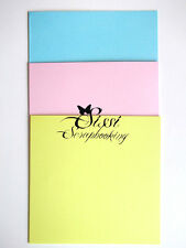 LOT KIT COURRIER 12 CARTE + ENVELOPPE BLEU ROSE JAUNE SCRAPBOOKING CARTE 15 CM