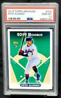 2019 Topps RC NY Mets Star PETE ALONSO Rookie Card PSA 10 GEM MINT - Pop 75