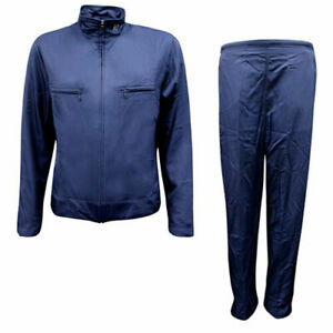 Nike Swoosh Womens Nylon Regular Fit Zip Up Full Tracksuit Navy 240944 451 R6E