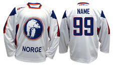 Team Norway Norge 2011 White Ice Hockey Jersey Custom Name and Number