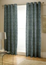 "Catherine Lansfield Moroccan Paisley Petrol Eyelet Curtains, 66x72""/168x183cm"