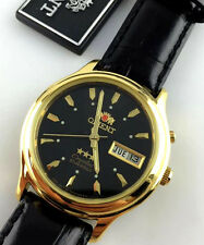 OROLOGIO ORIENT 21 JEWELS 3 STAR CRISTAL WATCH AUTOMATIC DATE JAPAN DAYDATE