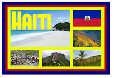 HAITI, NORTH AMERICA - SOUVENIR NOVELTY FRIDGE MAGNET - SIGHTS / TOWNS - GIFT