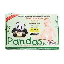 LARGE 9-14 KG LUV ME PANDAS ECO BAMBOO DISPOSABLE NAPPIES BOX OF 216