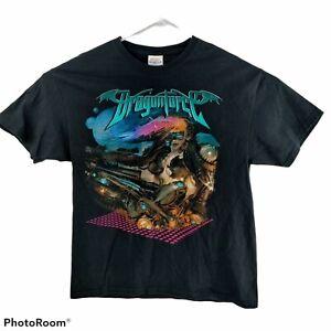 DragonForce Ultra Beatdown Concert Tour 2008 British Power Metal L T-Shirt EUC!