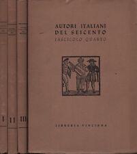 Auteurs italien del six cents. 4 voll. divers. Bibliothèque Vinciana. SLB24