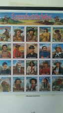 Legends of the west mint set collectable stamps history book