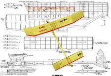 "48"" Span FREEFLIGHT 1/2 A MODEL AIRPLANE PLANE Tornado   PLANS &  BUILDING NOTES"
