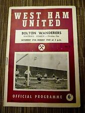 1960/61 Football League - WEST HAM v BOLTON  WANDERERS - 27th August