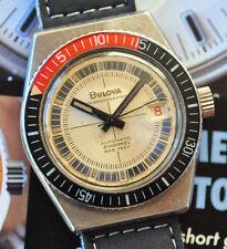 Vintage 1969 M9 Bulova Oceanographer Snorkel Watch 666 ft Diver Bakelite Bezel +