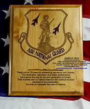 FREE Personalized AIR NATIONAL GUARD WOOD PLAQUE, ANG, AIR FORCE MILITARY GIFT
