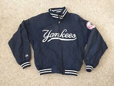 Vintage New York Yankees Majestic Full Zip Spellout Mens Medium Baseball Jacket